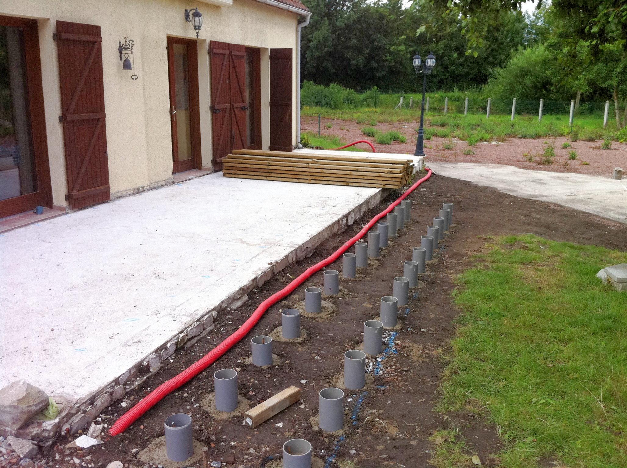 construire une terrasse en bois - paysagiste amiens - Comment Construire Une Terrasse En Beton