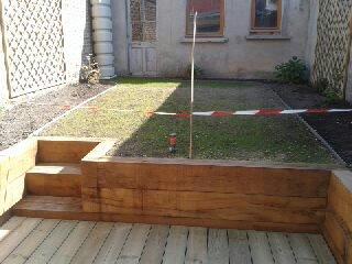 Et pour clôturer cet article, une vue d'ensemble du jardin avant et ...
