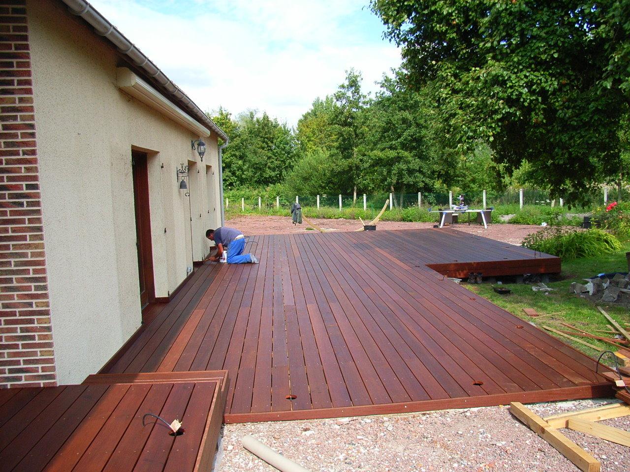 Construire Terrasse En Bois construire une terrasse en bois - paysagiste amiens