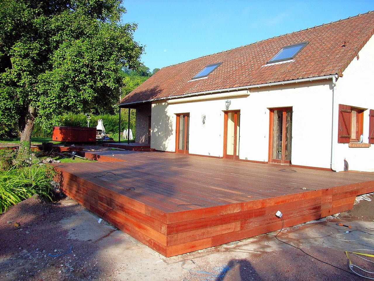 Bois Pour Terrasse Extérieure construire une terrasse en bois - paysagiste amiens